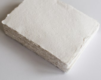 Deckle edge hand made cotton rag recycled stationery paper.