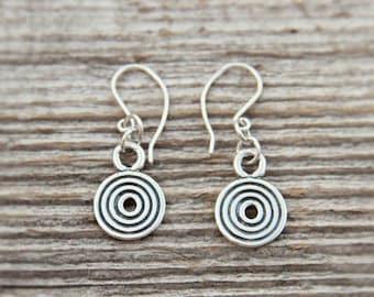 Silver Kurzeme Sun symbol earrings