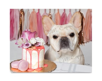 Fawn French Bulldog Anniversary Card, French Bulldog Wedding Card, French Bulldog Bridal Shower Card