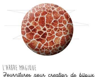 2 cabochons glue giraffe animal skin wild ref 1572 - 18 mm