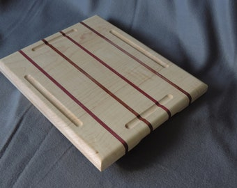 Reversible Maple cutting board with four stripes