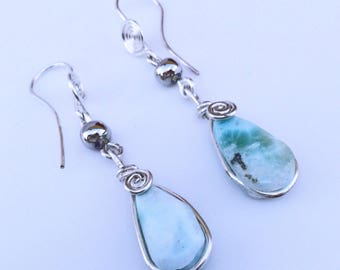 Larimar Earrings Atlantis