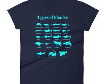 Types Of Sharks Women's Shark Shirt