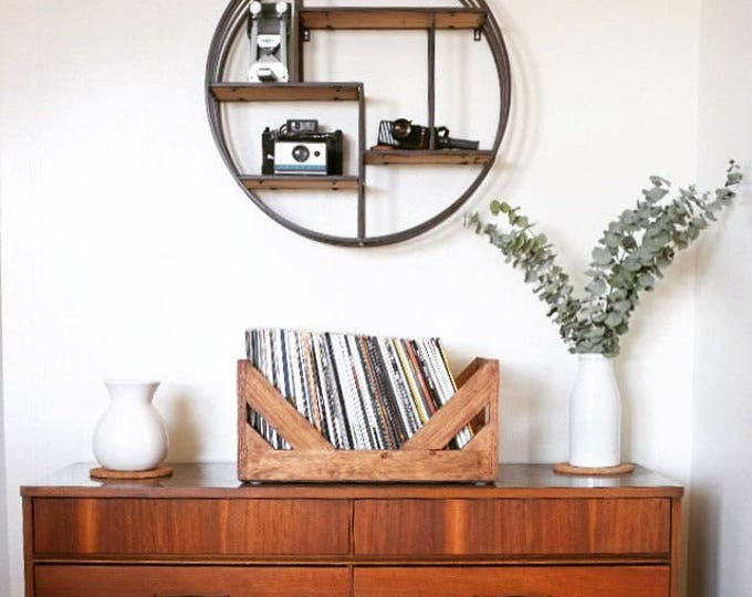 """Featured listing image: 12"""" Vinyl Record Storage - A stylish Alternative to milk Crates! Hand Made and specially designed for storing your collection of 12"""" Vinyl."""