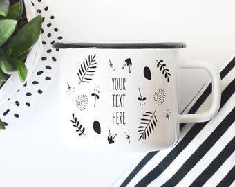 Mug personnalisé émail Mug Noël cadeau Camping Mug Camp tasse Mug voyage Mug tasse à café cadeau de Noël pour maman personnalisé Mug personnalisé