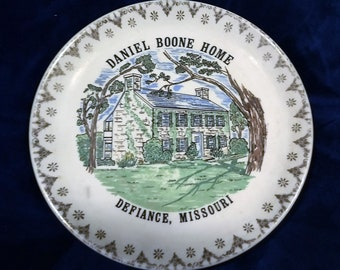 Daniel Boone Home Collector's Plate Defiance Missouri