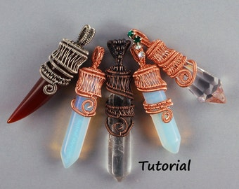 Wire Woven Crystal Point Pendant - Wire Wrapped Jewelry Tutorial