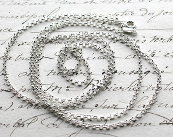"""Sterling Silver Rolo Necklace Chain - 16"""", 18"""", 20"""", 24"""", 30"""""""