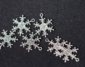 Pewter Snowflake Charms--New lower price!