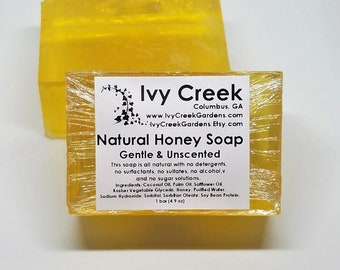 Unscented Honey Soap, Natural Soap, Holistic Soap, Gentle Soap, Honey Soap, Gentle Soap, Unscented Soap, Natural Honey, Holistic Soap