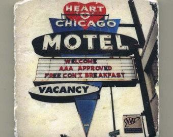 """Heart """"O"""" Chicago Motel - Original Coaster"""