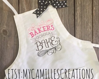 Bakers Gonna Bake Apron and Bow