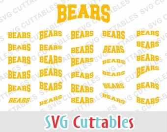 Bears svg, bears layouts, svg, eps, dxf, bears mascot, bears cut file, svg cuttables, Silhouette, Cricut cut file, digital download