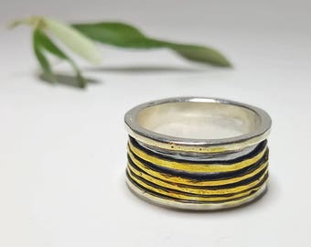 Spinner Ring Sterling Silver, Worry Ring, Meditation Ring, Fidget Ring, Spinning Ring, Anxiety Ring, Stress Ring, Anti Stress Ring