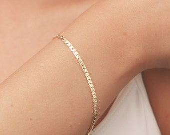 Dainty Gold Bracelet, Delicate Gold Chain Bracelet, Layered Bracelet, stacking bracelet, Bridesmaid Gift, 24k Gold Plated Jewelry.