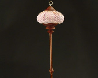 Hanging Ornament- Pink Sea Urchin Shell (OR38)