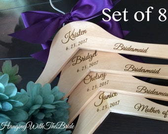 Bridesmaids gift, Wedding dress hanger, Engraved Hanger, Custom Hangers, Wedding hangers, Wedding, Bridal gifts, Wedding shower gifts, Bride