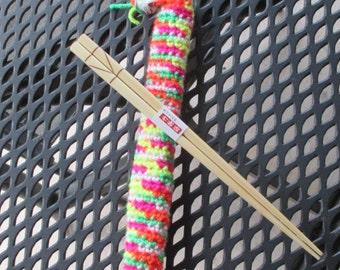 Colorful Chopstick Cozy With Chopsticks