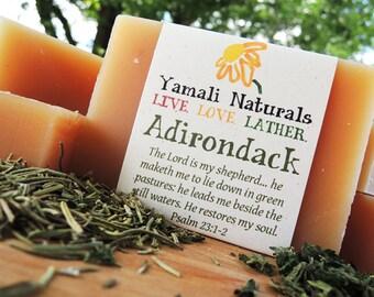 ADIRONDACK - Rosemary Nettle Shampoo Bar - Fresh Woodsy Essential Oil Blend