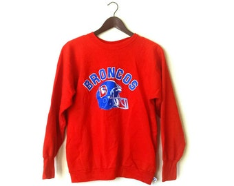 Vintage Denver Broncos NFL football 50/50 sweatshirt