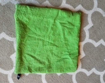 Accent Pillow covers- Green with stitched design- modern