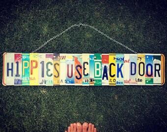 Hippie License Plate Sign - Hippie Decor - Birthday Gift - Boho Decor -  Hippie Sign - Room Decor