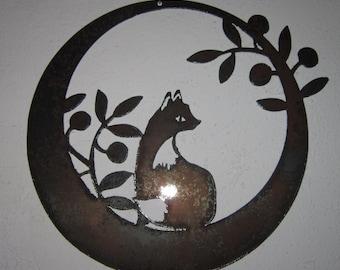 Fox in The Olives-Metal Art- Steel Art- Metal Wall Art- Metal Decor- Wall Art- Metal Home Decor