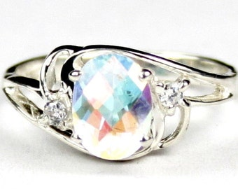 Mercury Mist Topaz, 925 Sterling Silver Ring, SR176