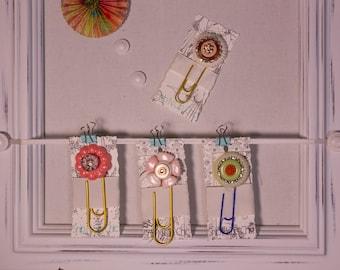Set of 4 Jumbo Embellished Paperclips