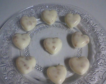 White Chocolate Toffee Hearts- Toffee Hearts (30 pieces)