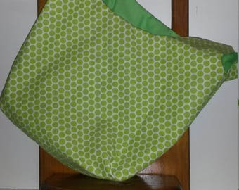Green Polka Dot Grocery Bag