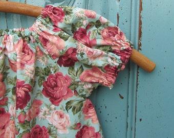 Girls peasant dress - girls dress - little girls peasant dress - short sleeve dress - vintage dress - Summer - bohemian dress - boho dress
