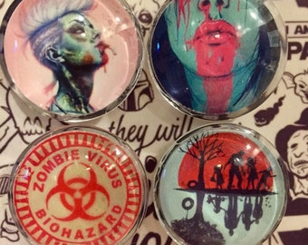Zombie Girl Magnets