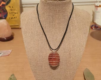 Caged Carnelian Necklace