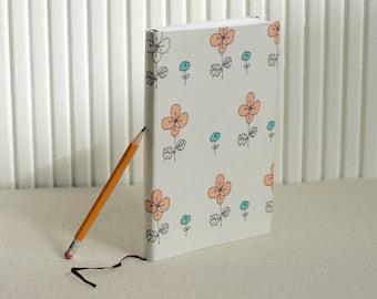 Flower pattern handmade notebook / journal