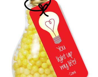 You Light Up my Life Valentine- Valentines Day Exchange Cards