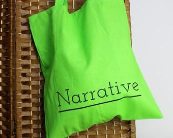 Narrative Logo Greenery Tote Bag