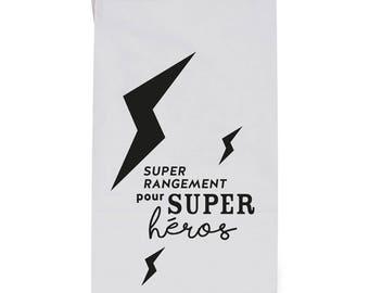Kraft paper bag / Toy Storage / Home decor - Super héros