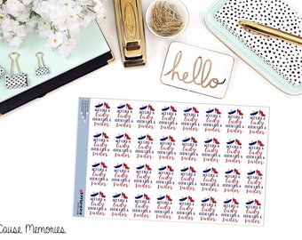 """SNARK SERIES: """"Act Like a Lady, Curse Like a Sailor"""" Paper Planner Stickers!"""