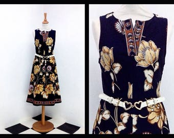 """vintage dress with """"baroque"""" pattern"""