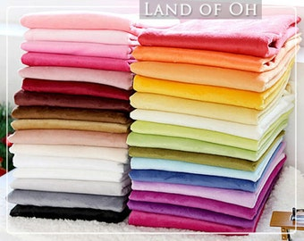 1 mm Smooth Cuddle Minky Fabric, Solid Minky Fabric, Choose from 31 Colors, Fabric By the Yard - 101987