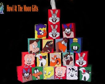 Looney Tunes Needlepoint Tissue Box Covers