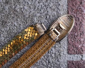 Vintage Gold Color Hook Belt