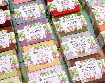 Mix and Match Any 3 Yummy Bars of Soap - Green Daffodil - Twig Natural Soap