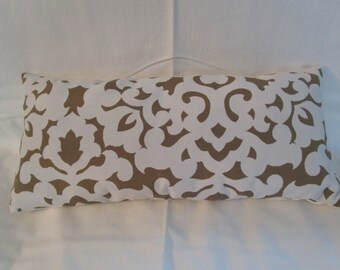 Beige & White Small Rectangular Pillow