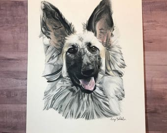 Pet Portrait Gift Card, Custom Pet Portrait, Custom Dog Portrait, Dog Portrait, Pet Portrait, Pet Portrait Custom