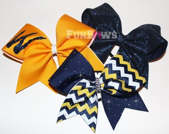 Gorgeous three piece cheer bow set - pop warner, schools and allstar by Funbows !