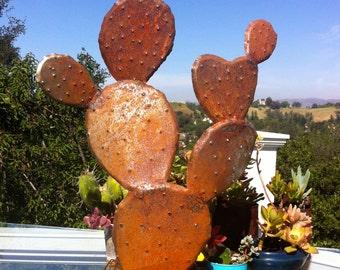 Nopal, Steel Cactus. Garden Art, Metal Sculptures,Metal Garden Sculpture, Metal Cactus, Metal Agave, Garden Decor, Southwestern Decor,agave