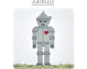 Tin man cross stitch pattern, Wizard of Oz Instant Download