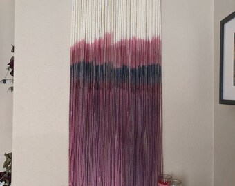 Dahlia || Ready to Ship Dip Dyed Wall Hanging